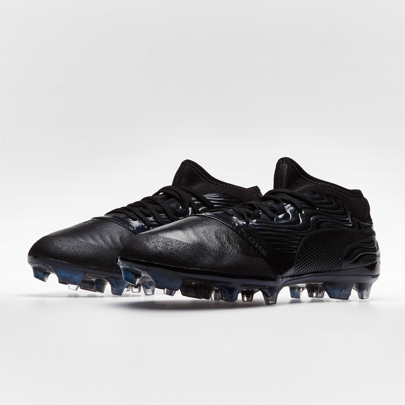 0ef37372a26dbf Mens Puma One 18.2 AG Football Boots Studs Trainers Sports Shoes Black  Footwear