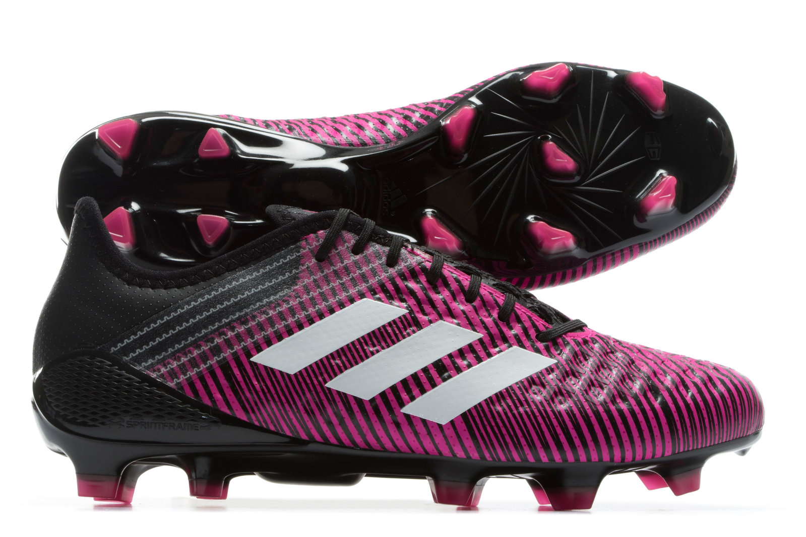 acf2ad164e9f87 adidas Mens Predator Malice Control FG Rugby Boots Sports Shoes Studs Pink