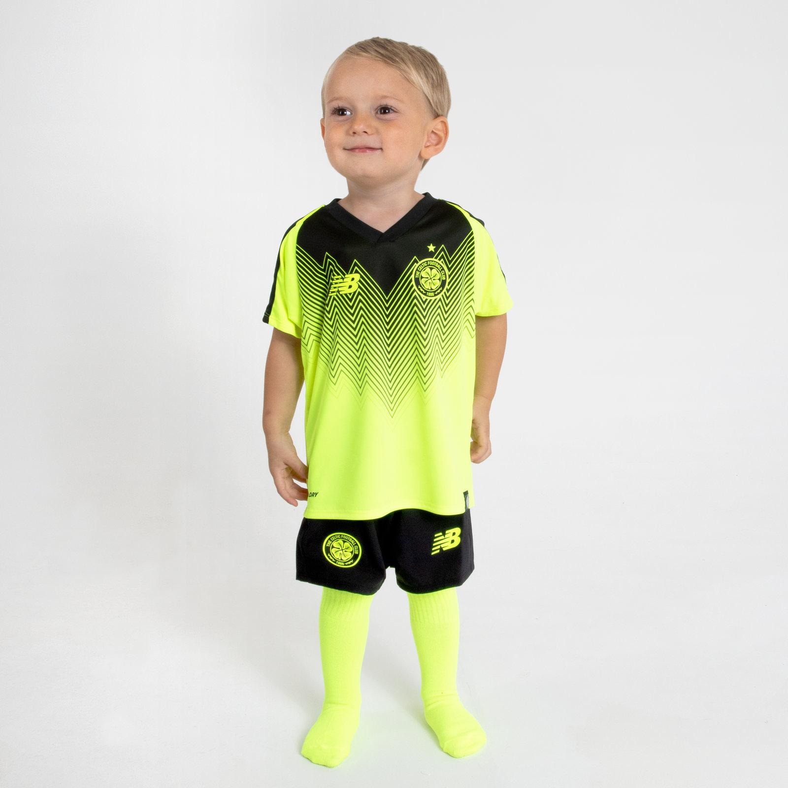 quality design 07c67 458de Details about New Balance Celtic FC 18/19 3rd Mini Kids Football Kit Sports  Training