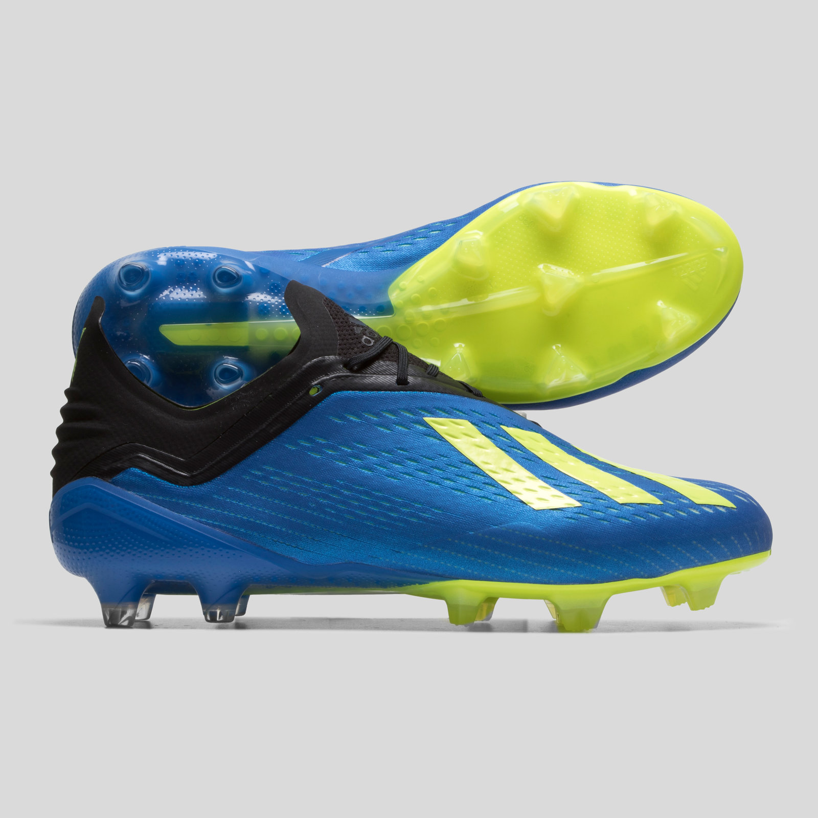 4c28ab0c6f13 adidas Mens X 18.1 Firm Ground Football Boots Studs Trainers Sports Shoes  Blue