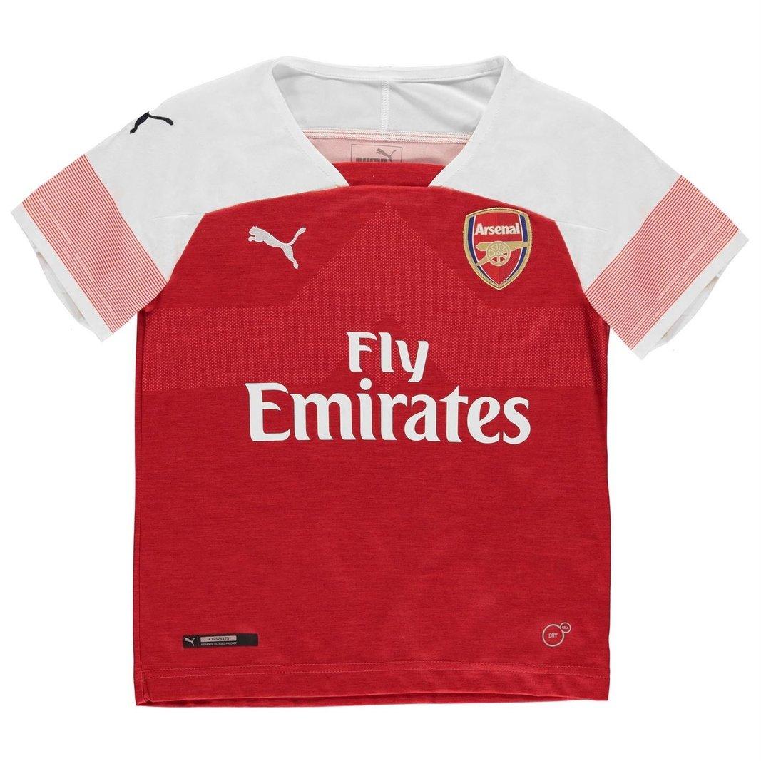 9135623c5aeb8 Details about Puma Arsenal 18/19 Home Kids Short Sleeve Replica Football  Shirt Red