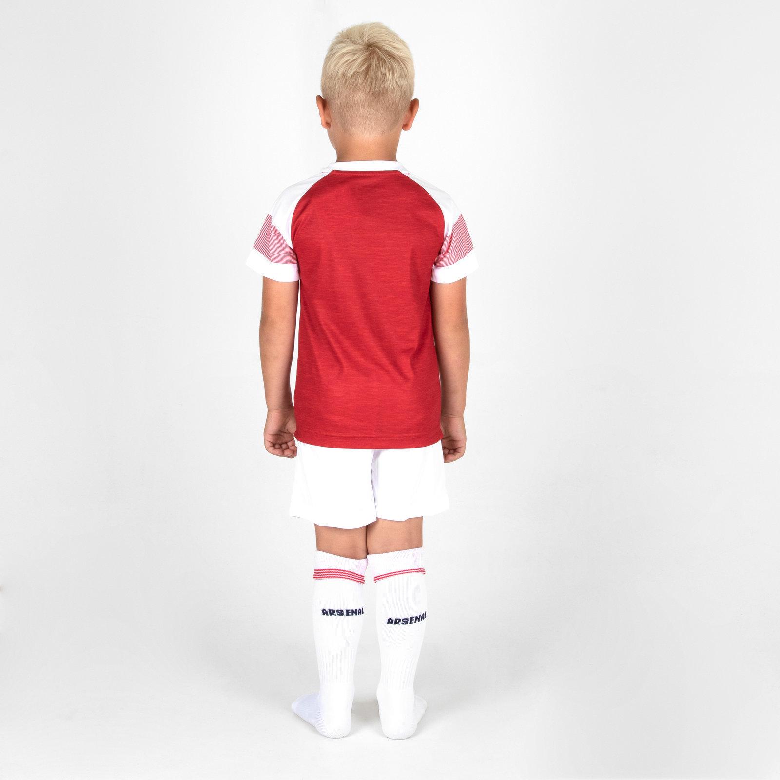 3817e8ba6ed Puma Arsenal 18 19 Home Mini Kids Football Kit Red Sports Training ...