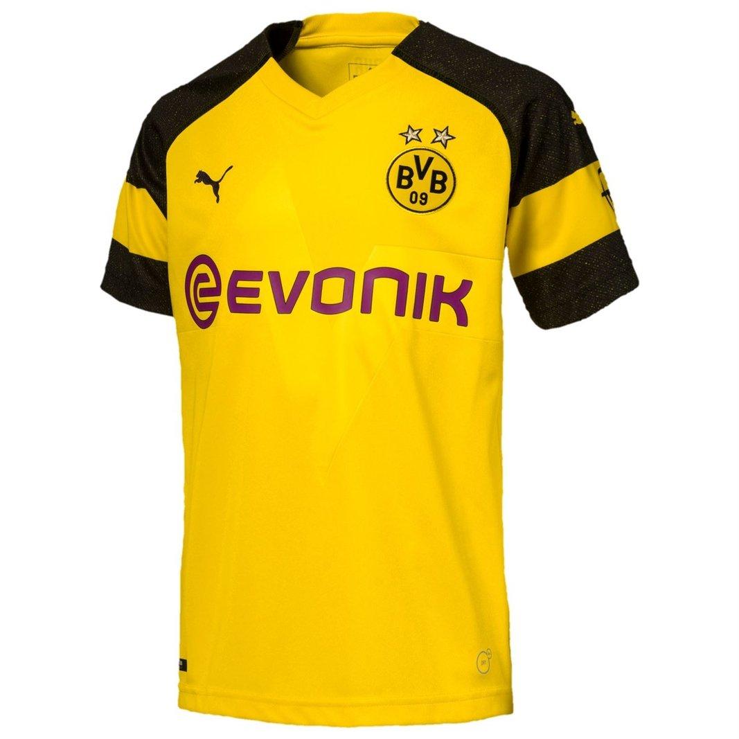 Détails sur PUMA homme Borussia Dortmund 1819 Accueil Replica Football Shirt jaune afficher le titre d'origine
