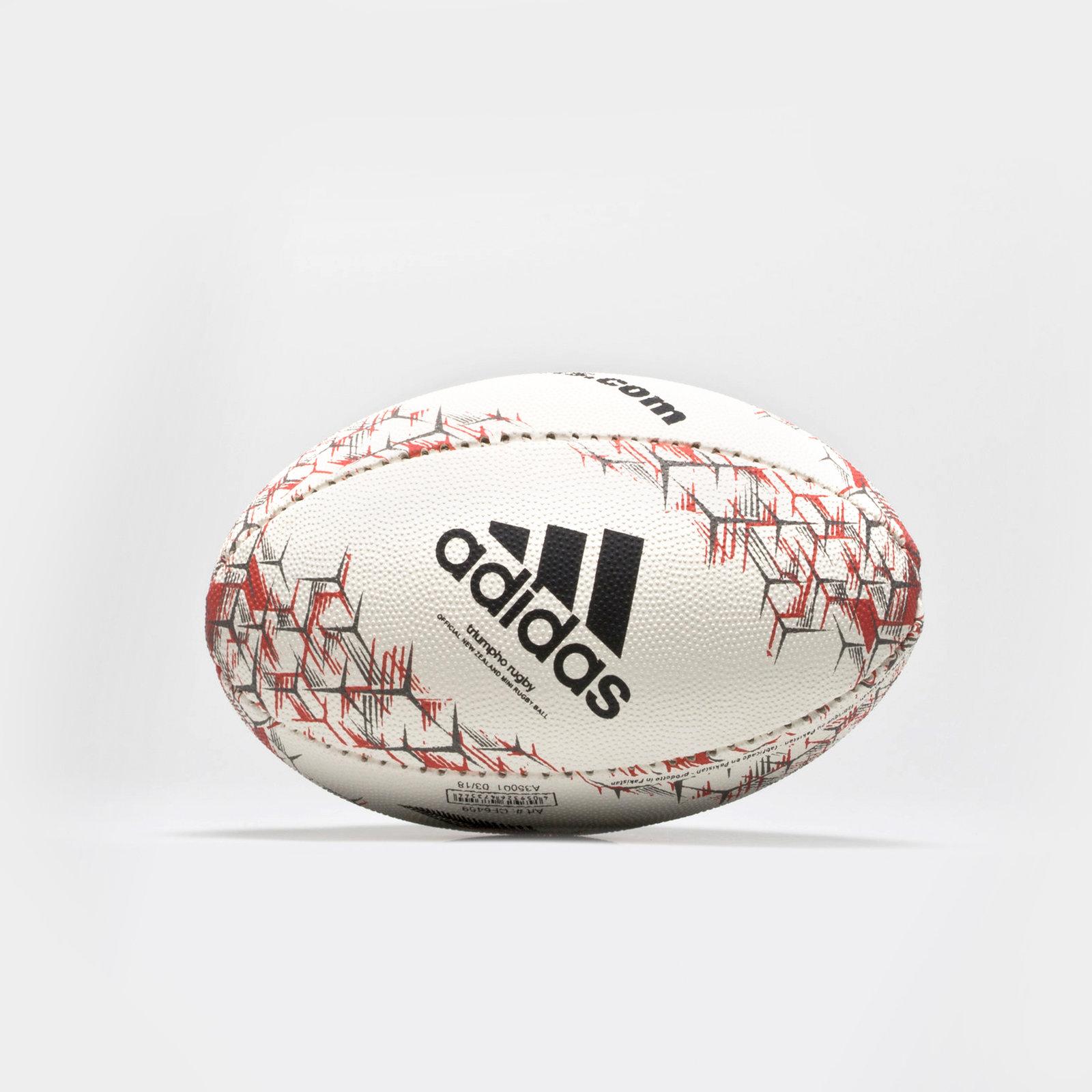 d371b5147bab adidas Unisex New Zealand All Blacks 2018 Mini Rugby Ball White Sports  Training