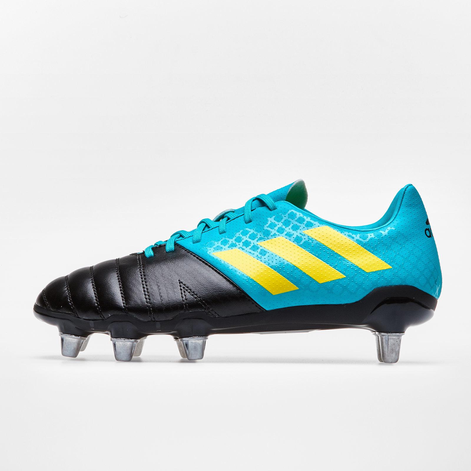 2d2e0bc9e2f5 adidas Mens Kakari Soft Ground Rugby Boots Sports Shoes Studs Blue ...