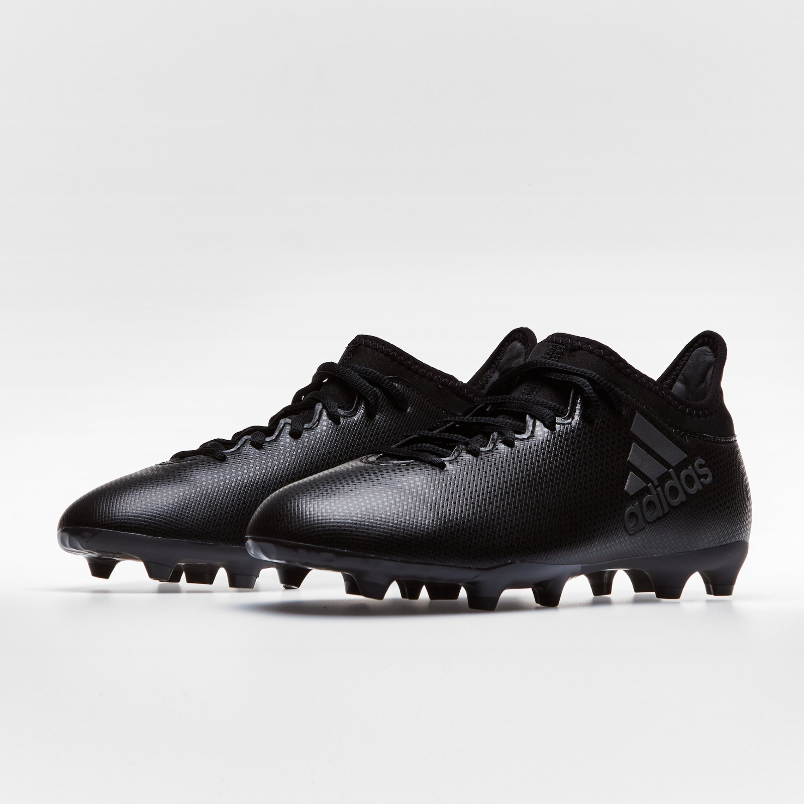 8838e7be3fb Details about adidas X 17.3 Firm Ground Kids Football Boots Studs Trainers  Sports Shoes Black