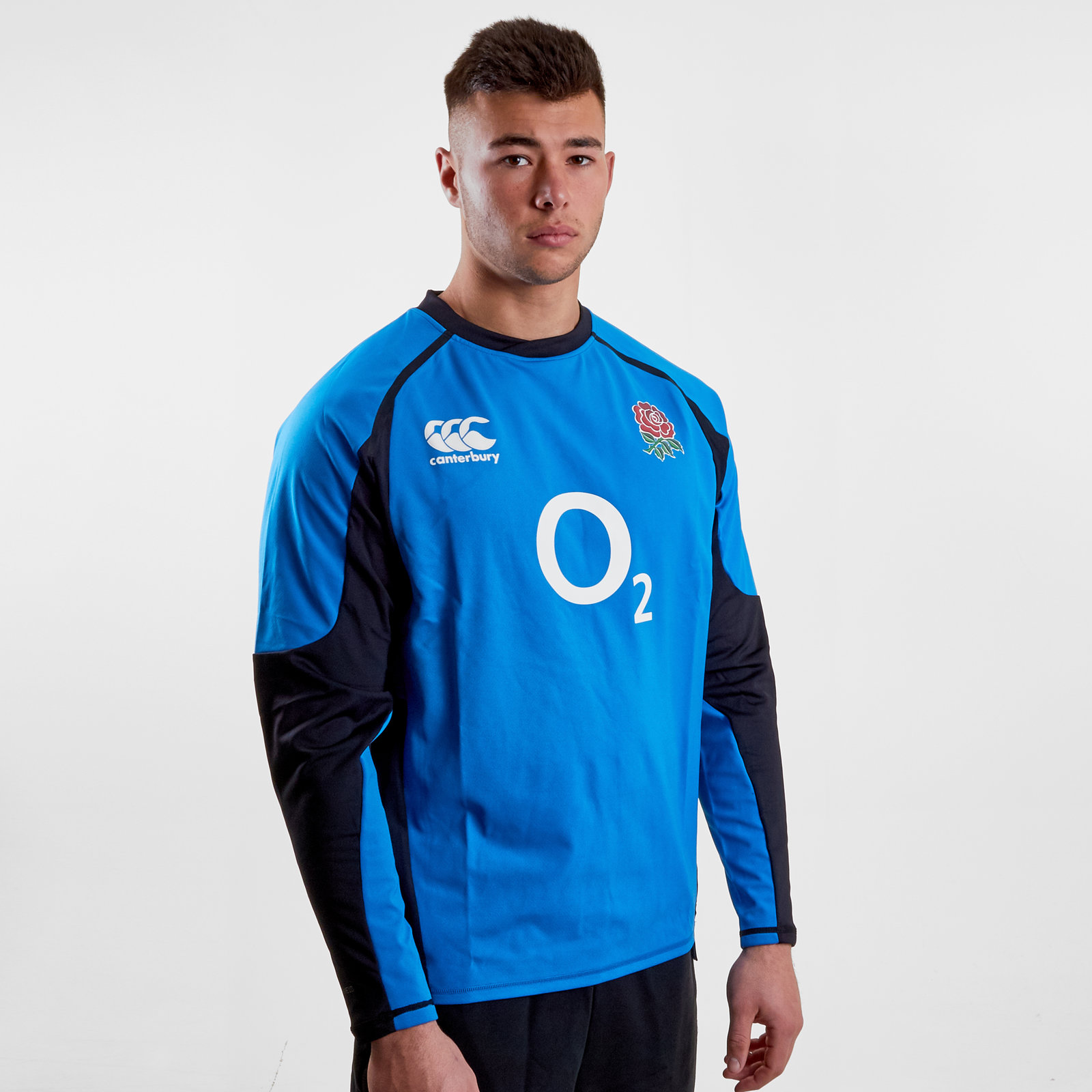 de767bce8aa Canterbury Mens England 2018/19 Players Drill Rugby Training Top Blue Sports