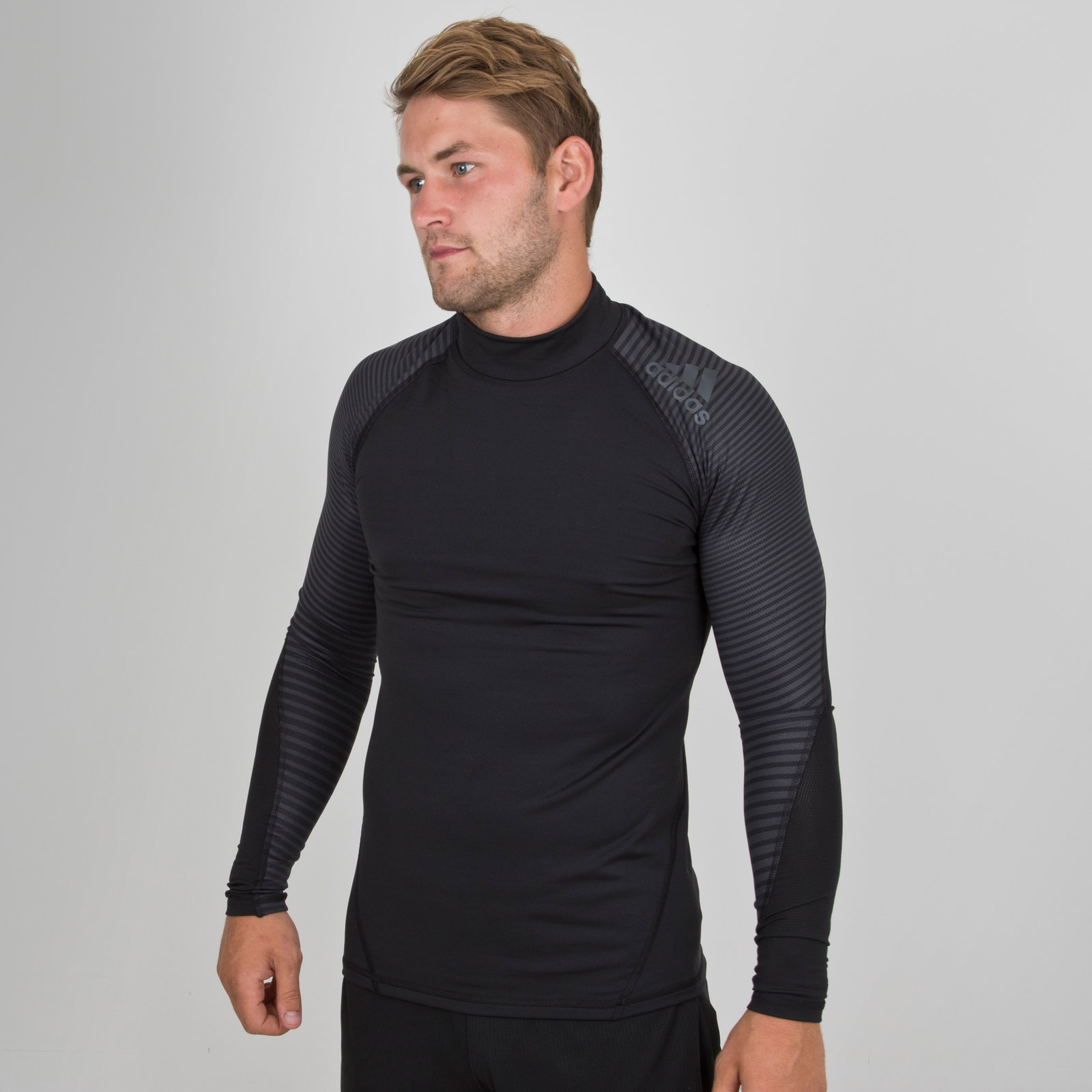 c5434897d adidas Mens Alphaskin SPR Climawarm Long Sleeve Compression T-Shirt Black