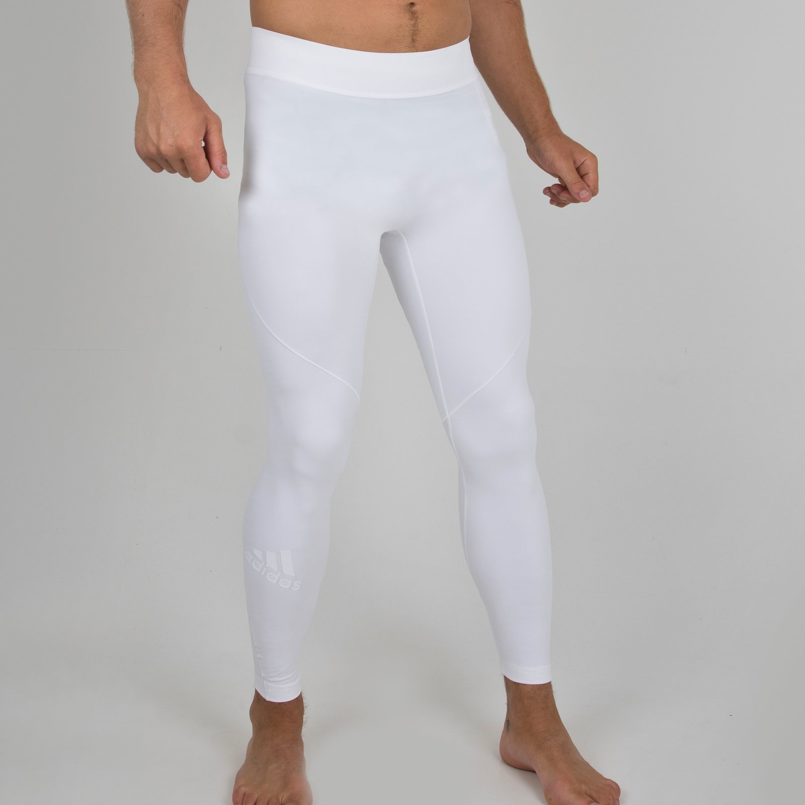c0152309d364f adidas Mens Alphaskin Tec Climachill Compression Tights White Sports Pants