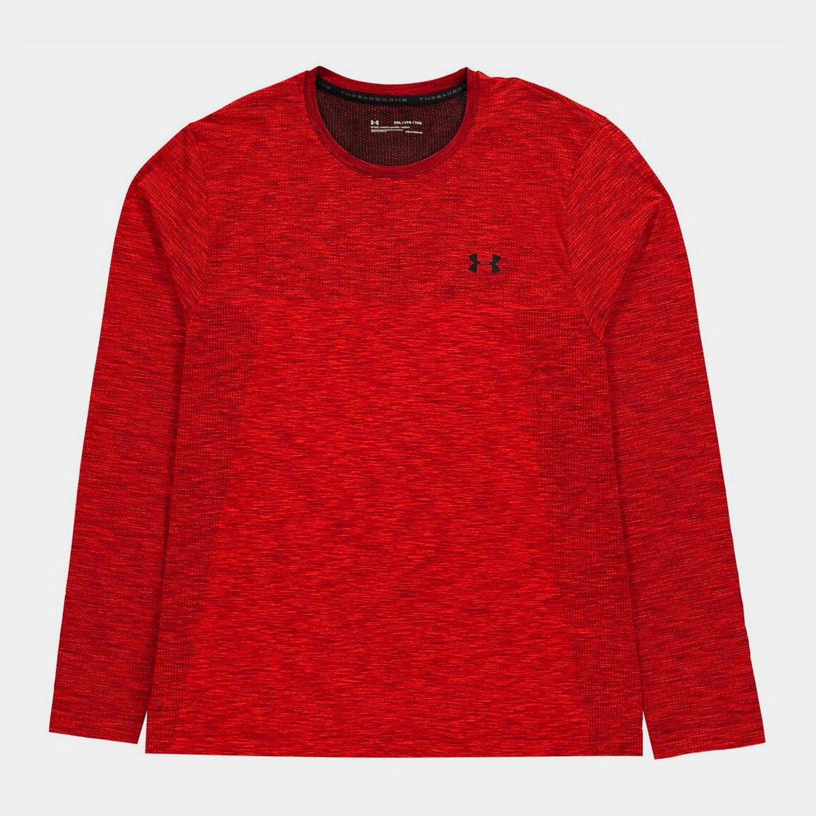 pecador Federal Rascacielos  Under Armour Mens Siphon Long Sleeve Training Top Red Sports Activewear    eBay