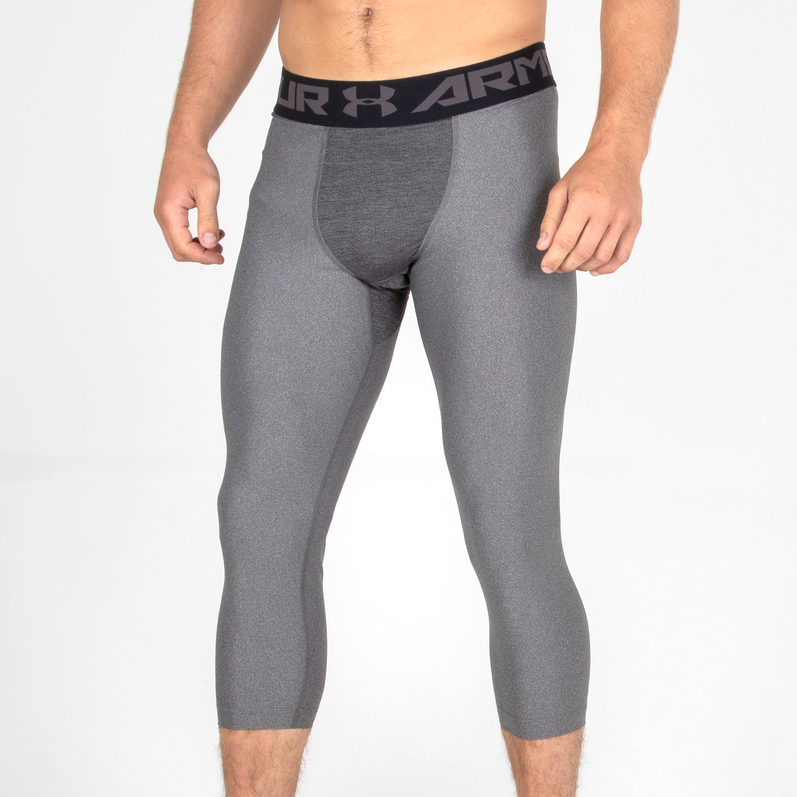 14ca1720 Details about Under Armour Mens HeatGear 2.0 Compression 3/4 Tights Grey