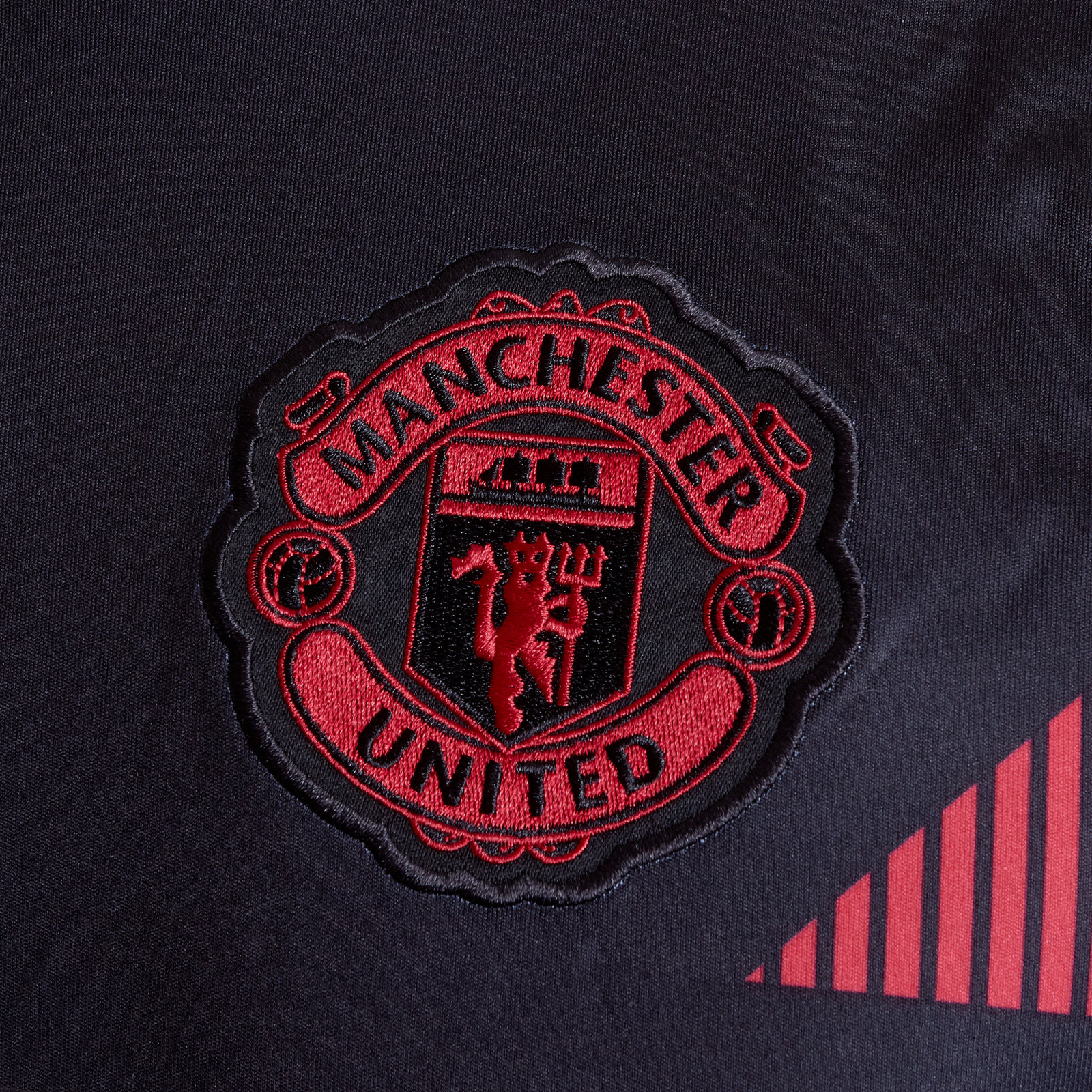 8f8dda6d825 adidas Mens Manchester United 18 19 Pre-Match Football Training Shirt Black