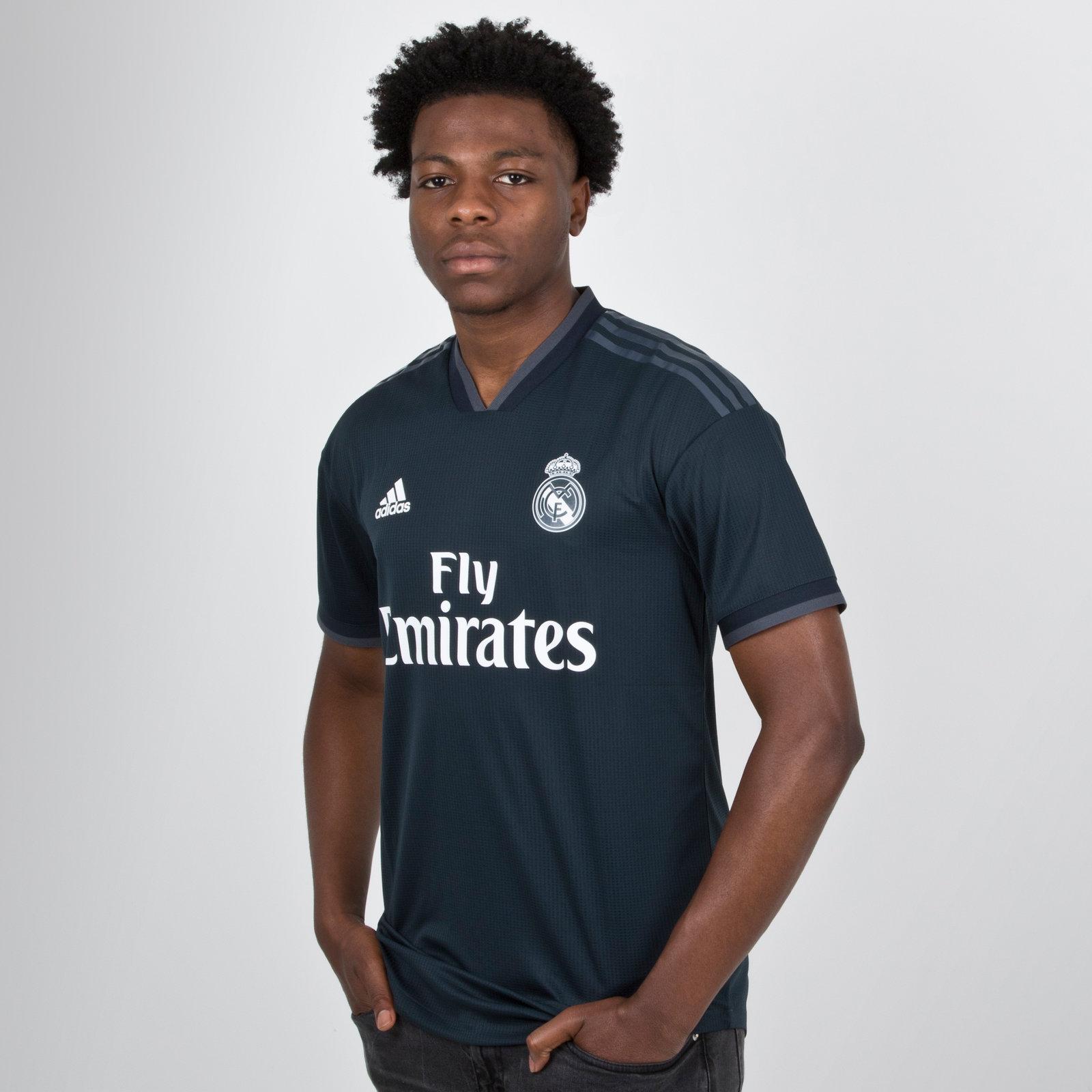 856531e68 adidas Mens Real Madrid FC 18 19 Away Authentic Short Sleeve Football Shirt