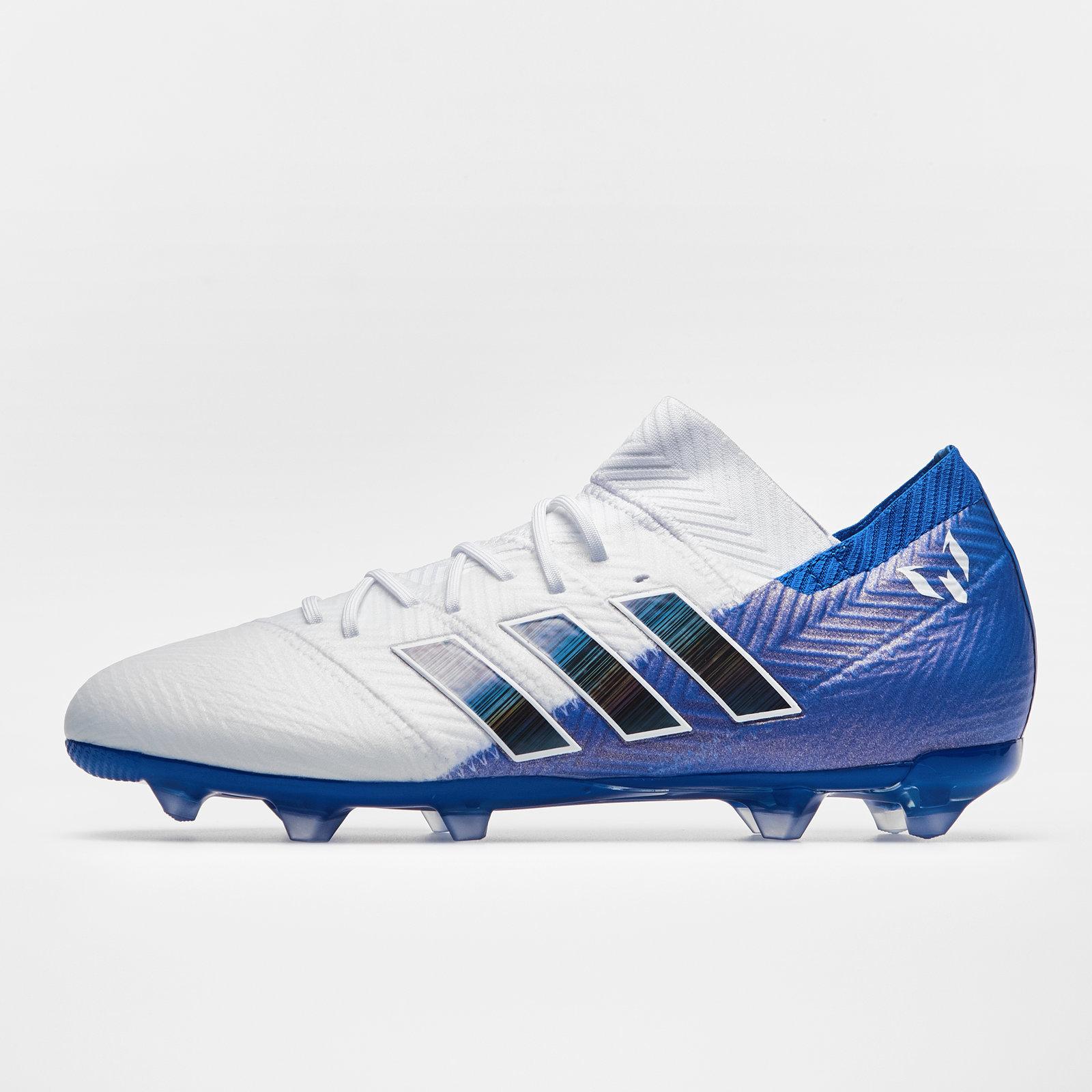 e7cfc64b9a57 adidas Nemeziz Messi 18.1 Firm Ground Kids Football Boots Studs Trainers  Sports