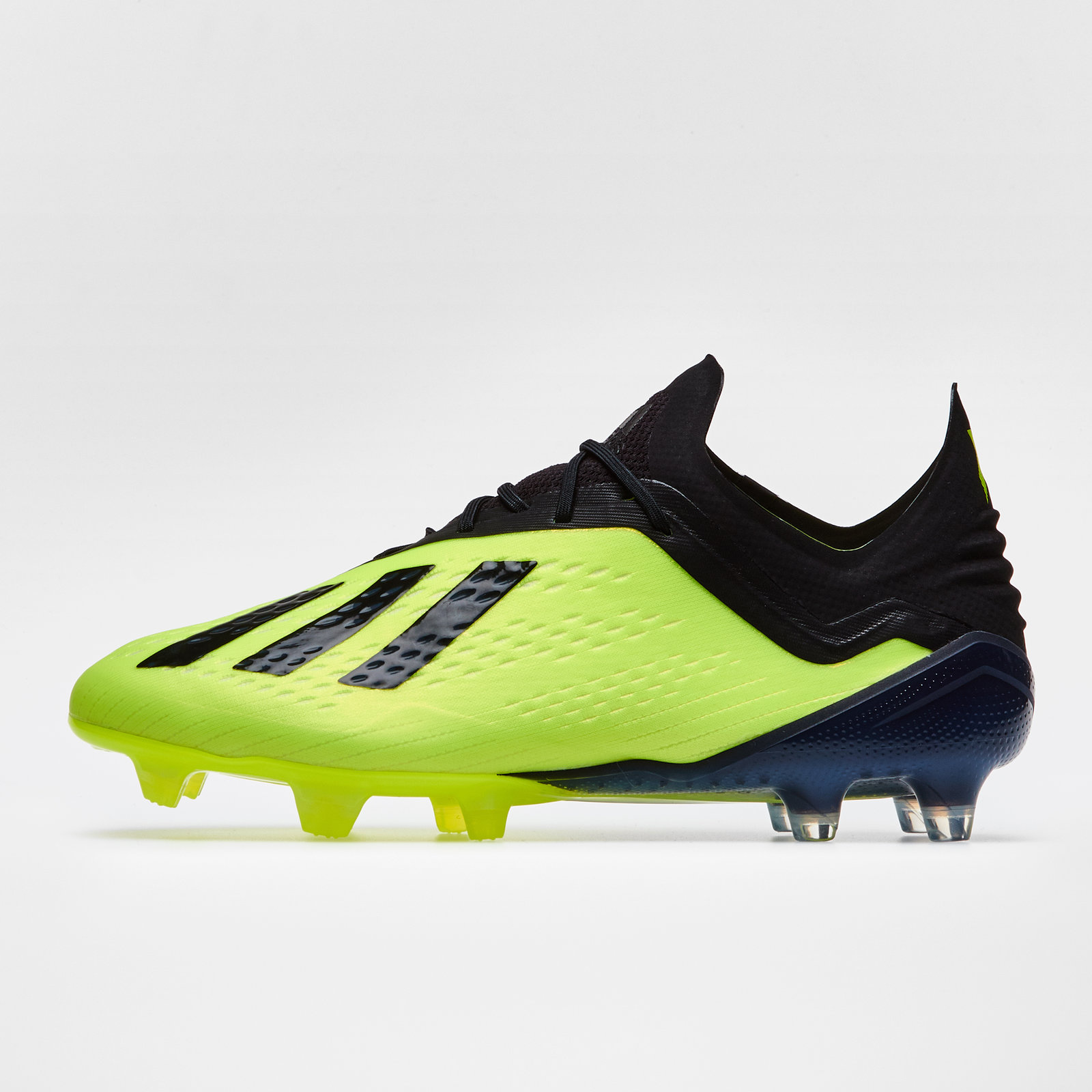 aaa092b58f78 adidas Mens X 18.1 Firm Ground Football Boots Studs Trainers Sports Shoes  Yellow