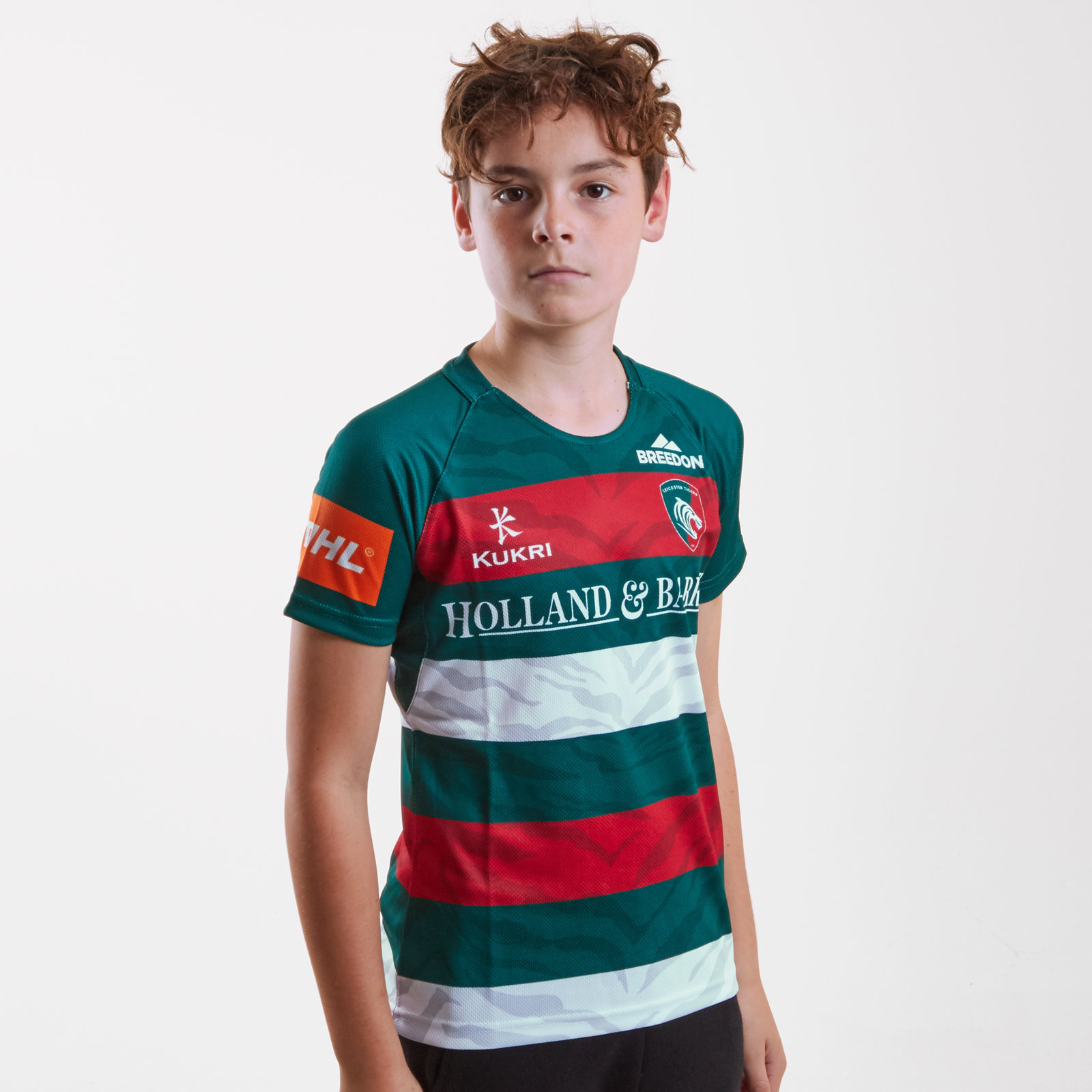 Kukri Leicester Tigers 2018//19 Kids Home Rugby Sports Training Shorts Green