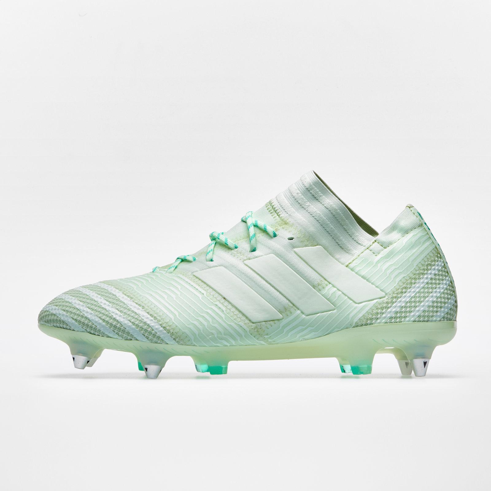 542f870a6206 adidas Mens Nemeziz 17.1 Soft Ground Football Boots Studs Trainers Shoes  Green