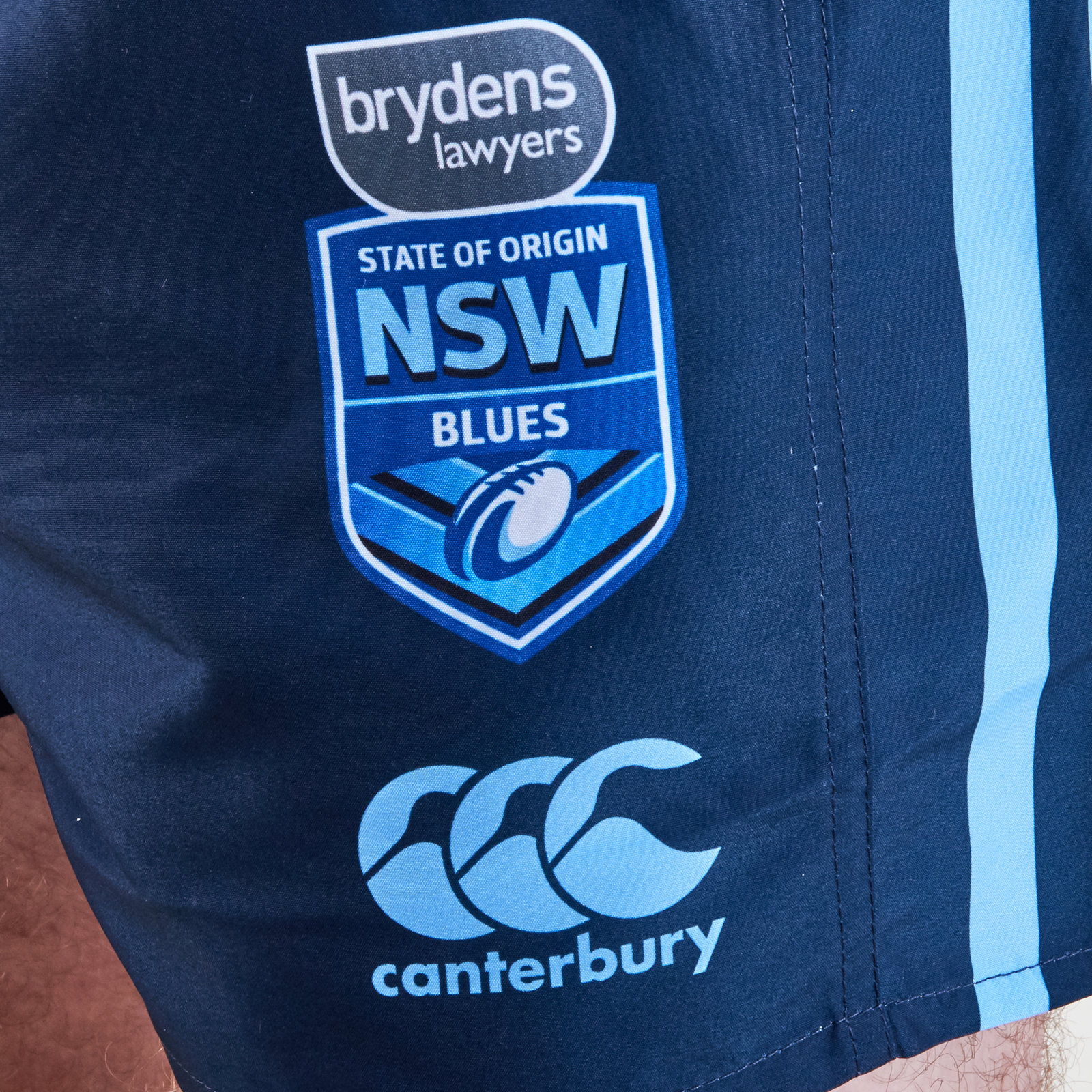 1635256a092 Canterbury Mens NSW Blues State of Origin 2019 Home Rugby League Shorts Navy