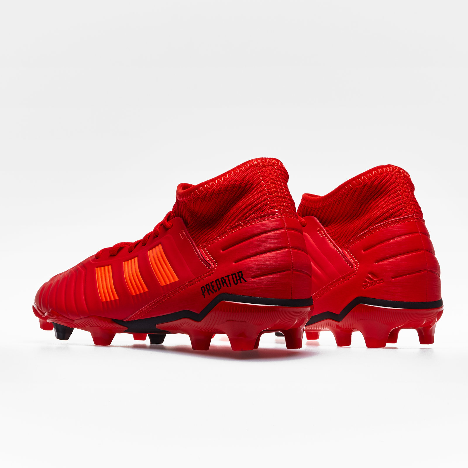 39359f2af6c7 adidas Predator 19.3 Kids Firm Ground Football Boots Studs Trainers Shoes  Red