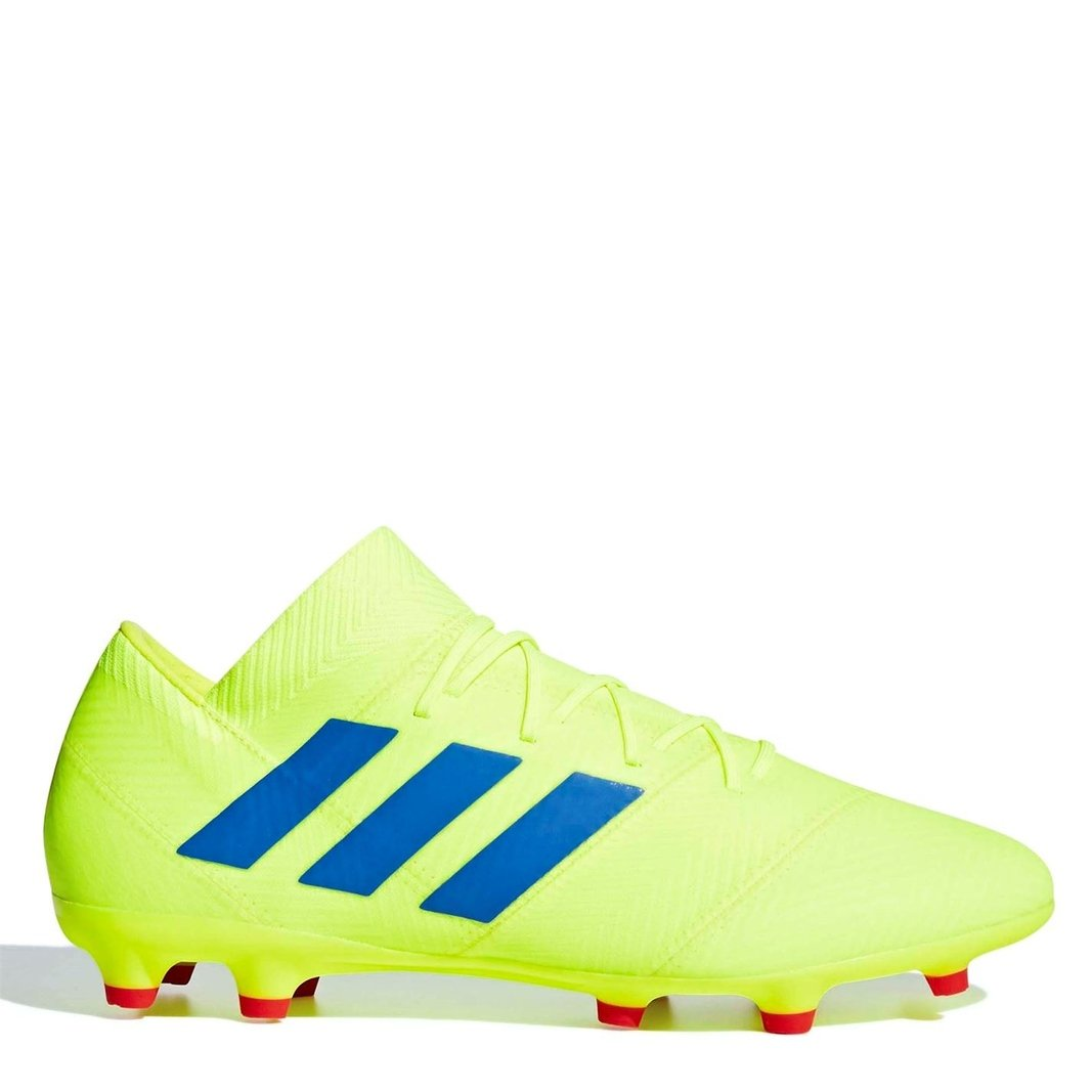92e60af6a adidas Mens Nemeziz 18.2 FG Football Boots Studs Trainers Sports Shoes  Yellow