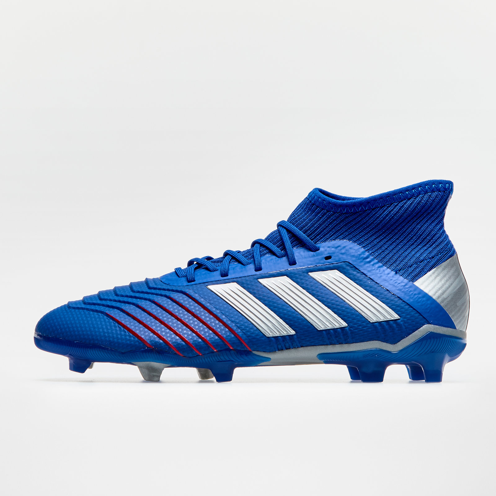 7f7c66680 adidas Predator 19.1 Firm Ground Kids Football Boots Studs Trainers Shoes  Blue
