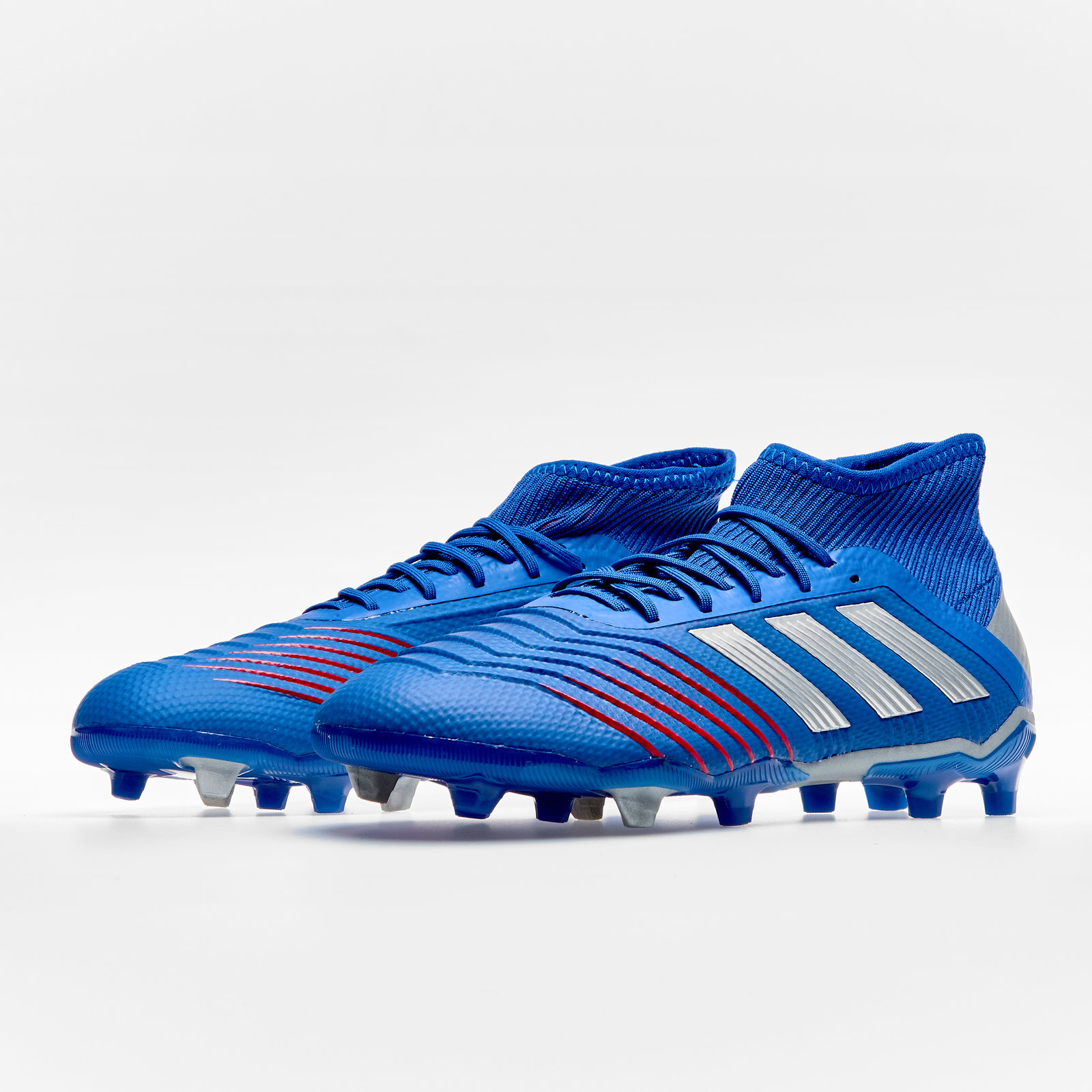 3ffe2fd09 Details about adidas Predator 19.1 Firm Ground Kids Football Boots Studs  Trainers Shoes Blue