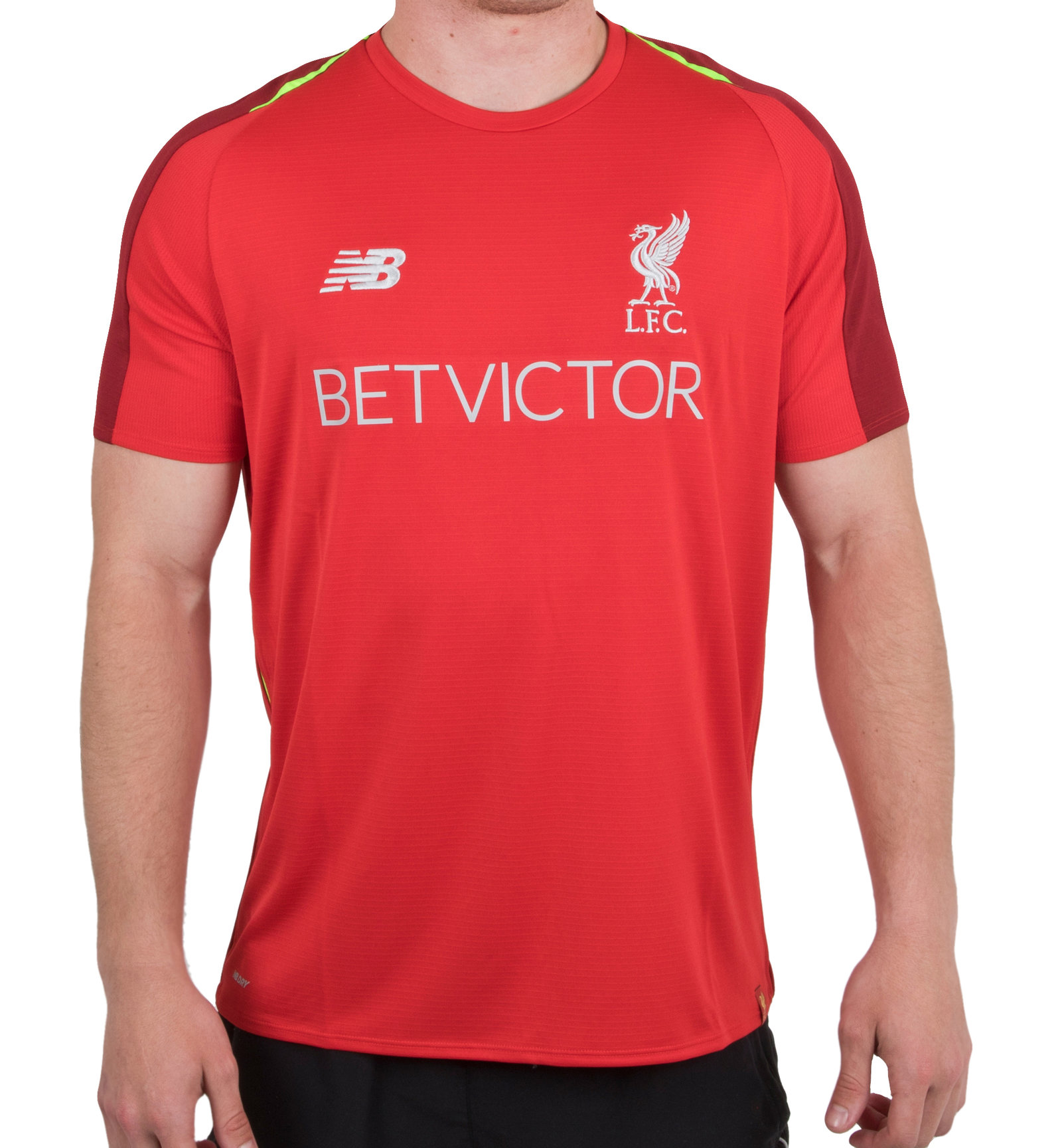 7607d6e242d Details about New Balance Mens Liverpool FC 18 19 Elite Football Training  Shirt Red Sports