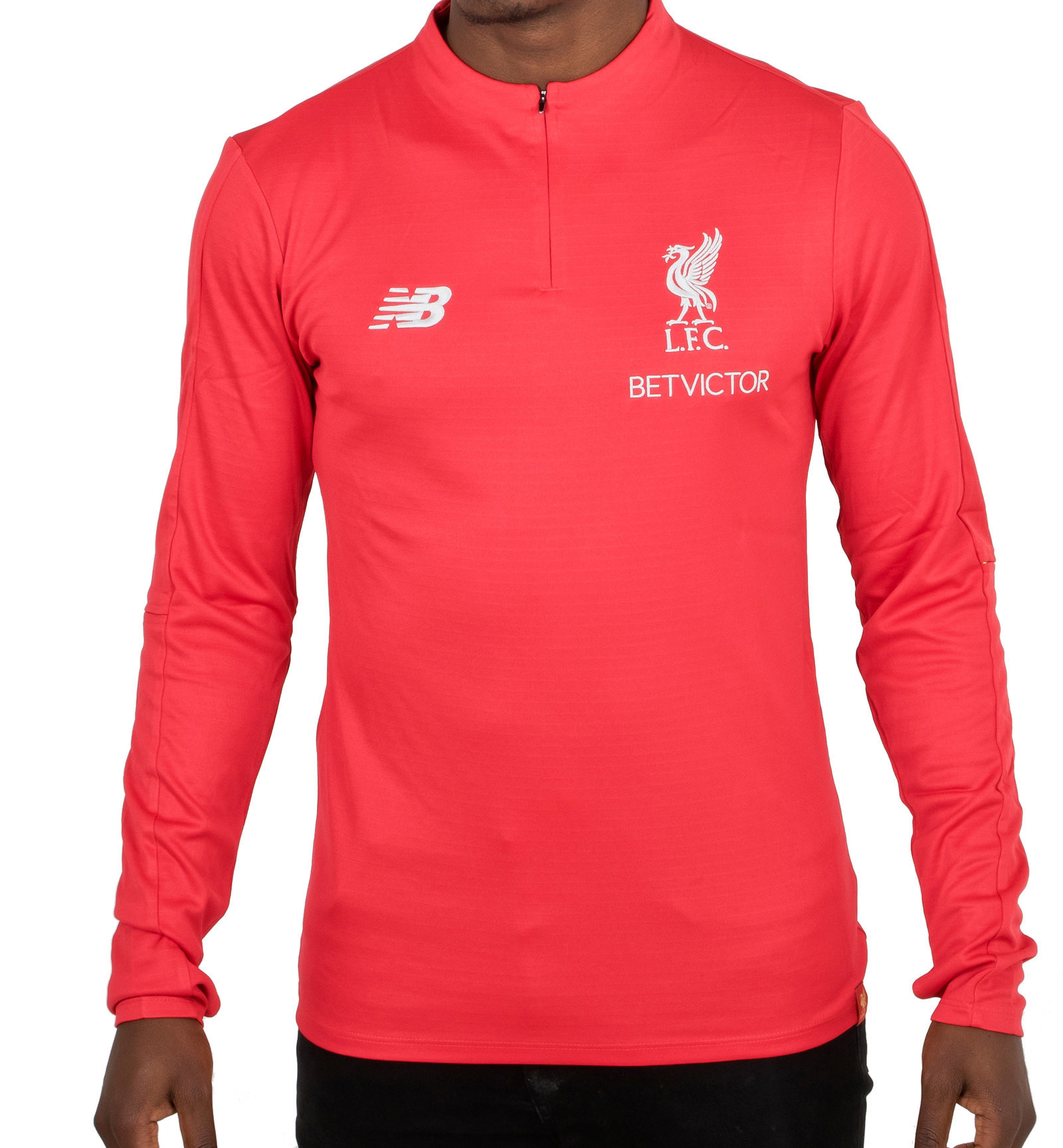 e3ac3aad37c99 New Balance Mens Liverpool FC 18/19 Elite Mid Layer Football Training Top  Red