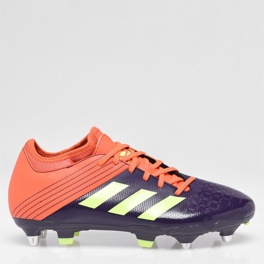 c6204915a7ae adidas Mens Malice Elite Soft Ground Rugby Boots Sports Shoes Studs Purple
