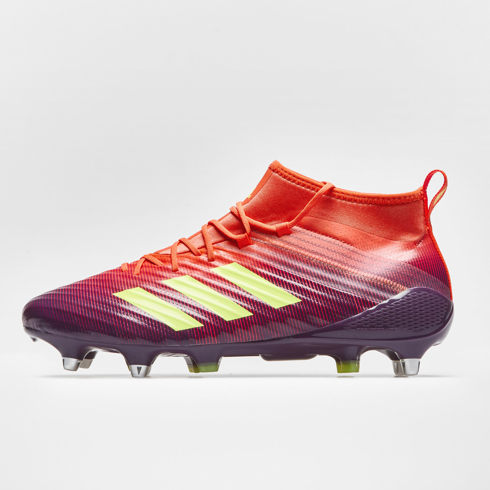 80ff0e13ce7 Details about adidas Mens Predator Flare Soft Ground Rugby Boots Sports  Shoes Studs Purple