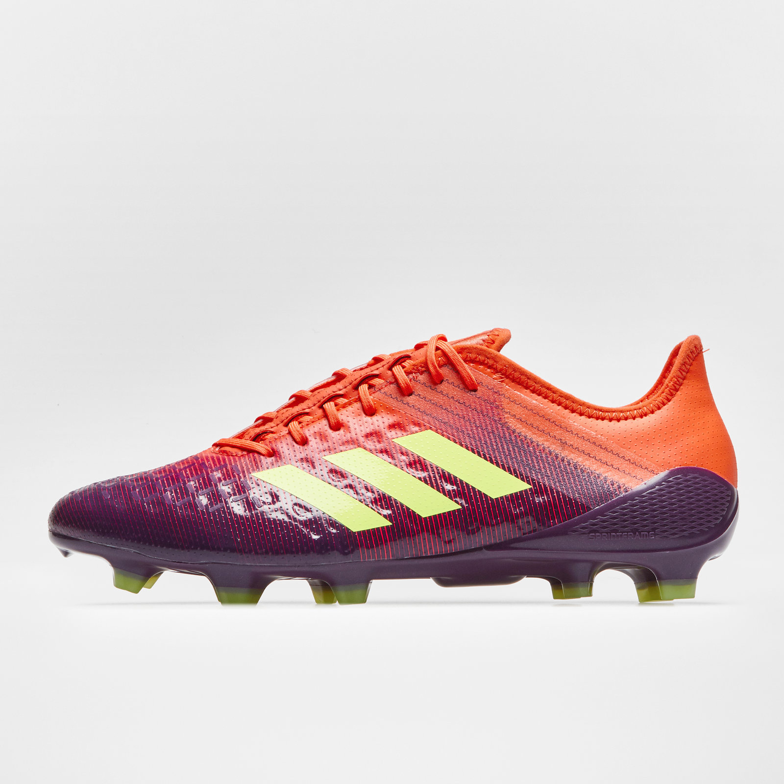 05f3a9007f0 adidas Mens Predator Malice Control Firm Ground Rugby Boots Shoes Studs  Purple