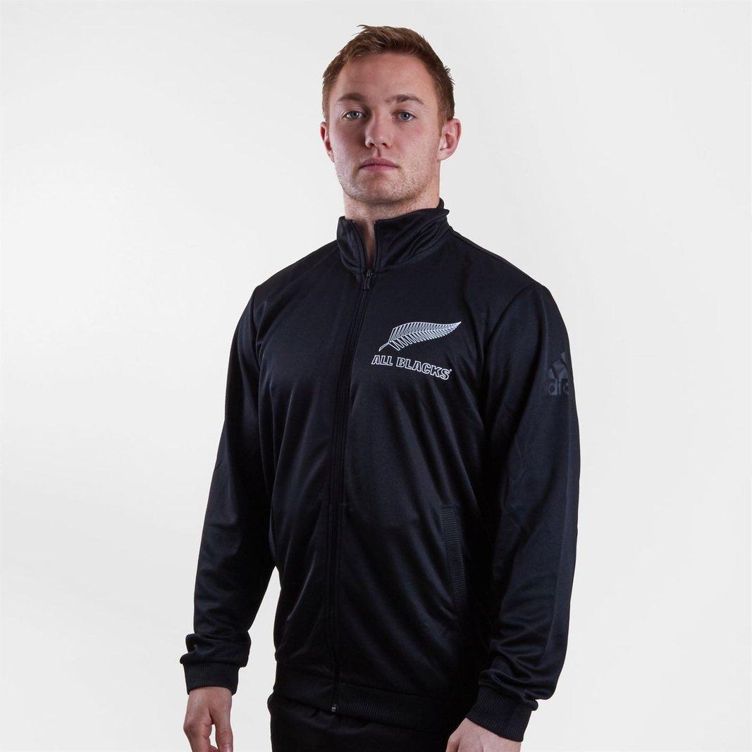 adidas Mens New Zealand All Blacks 2018//19 Players Hooded Hoody Hoodie Top Black