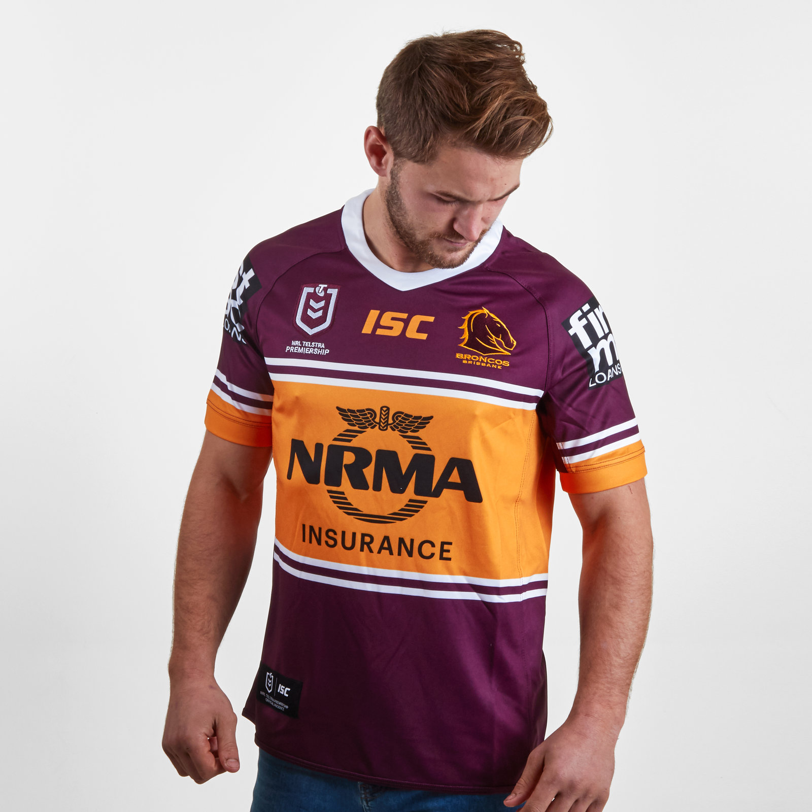 Image of Brisbane Broncos NRL 2019 Home S/S Rugby Shirt