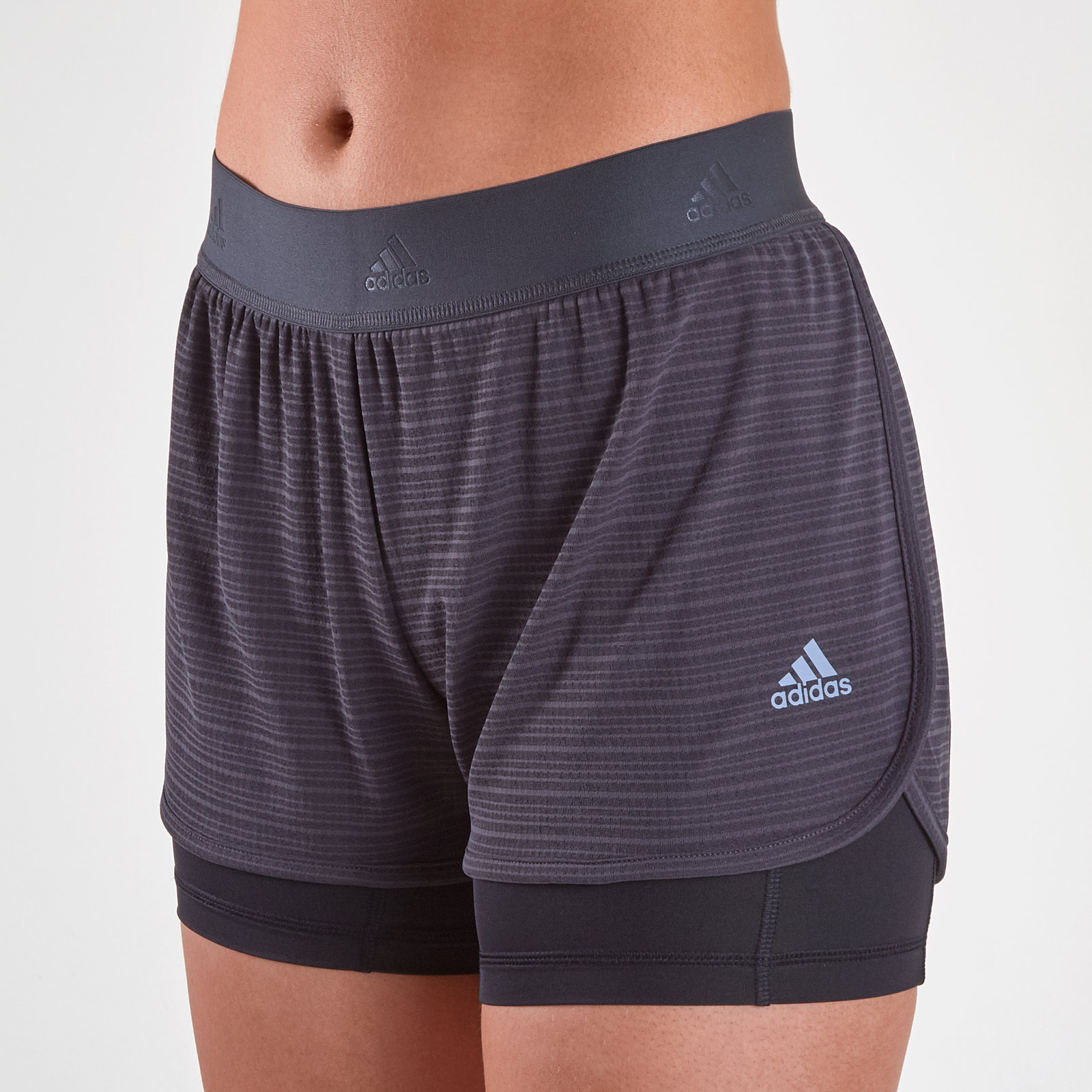5c3f16e0 Details about adidas Womens ClimaChill 2 In 1 Ladies Shorts Pants Trousers  Bottoms Grey