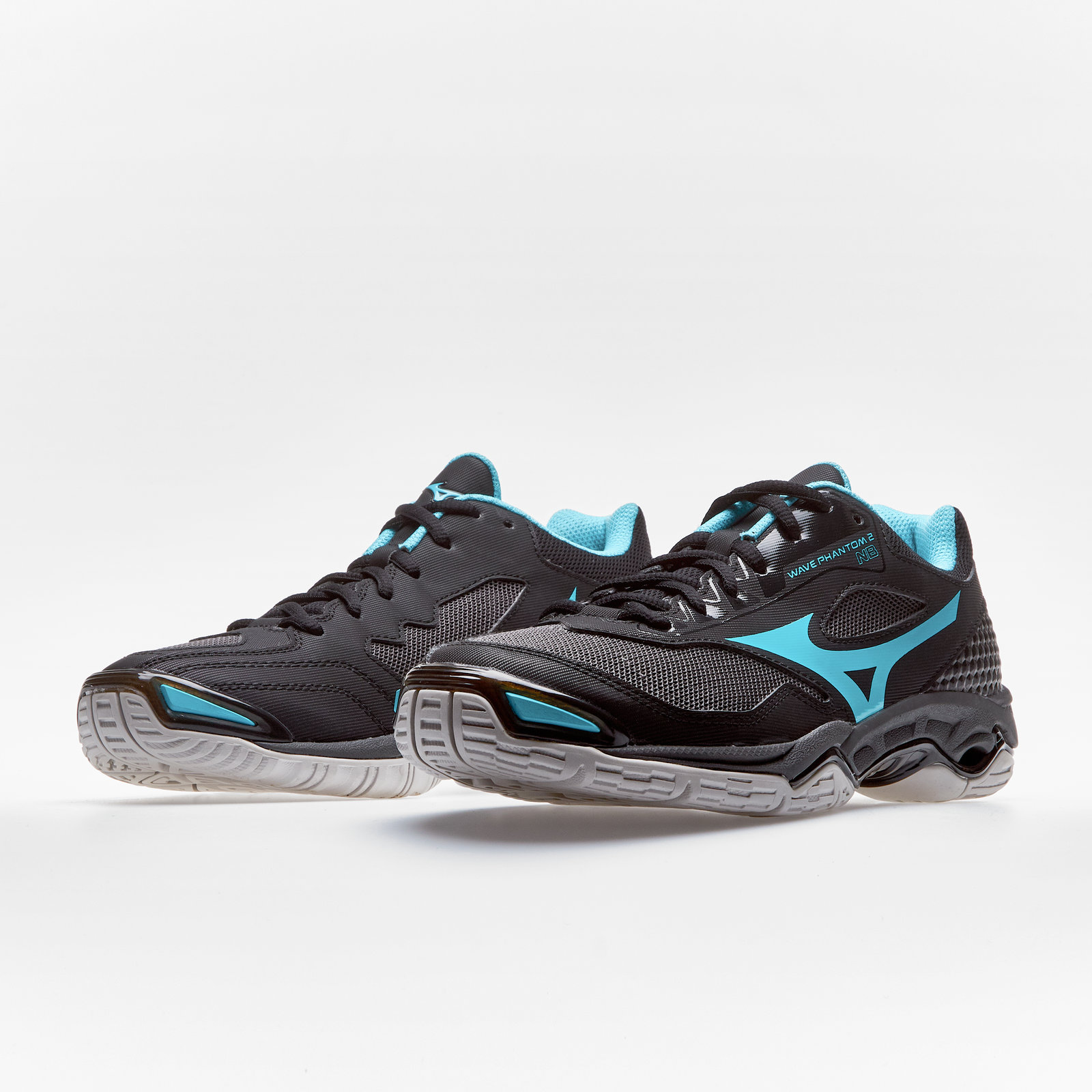 0c490bb740704 Details about Mizuno Womens Wave Phantom 2 Netball Trainers Sports Shoes  Black