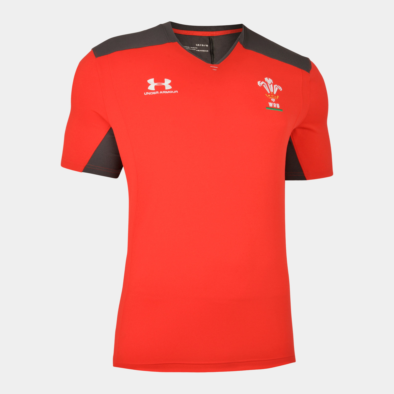 Under Armour Mens Wales WRU 2019 20 Players Rugby Polo Shirt Red