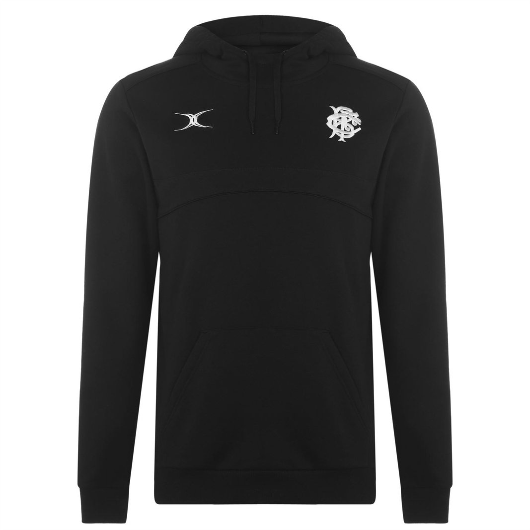 Gilbert Mens Barbarians 2019 Supporters Hooded Rugby Sweat Black