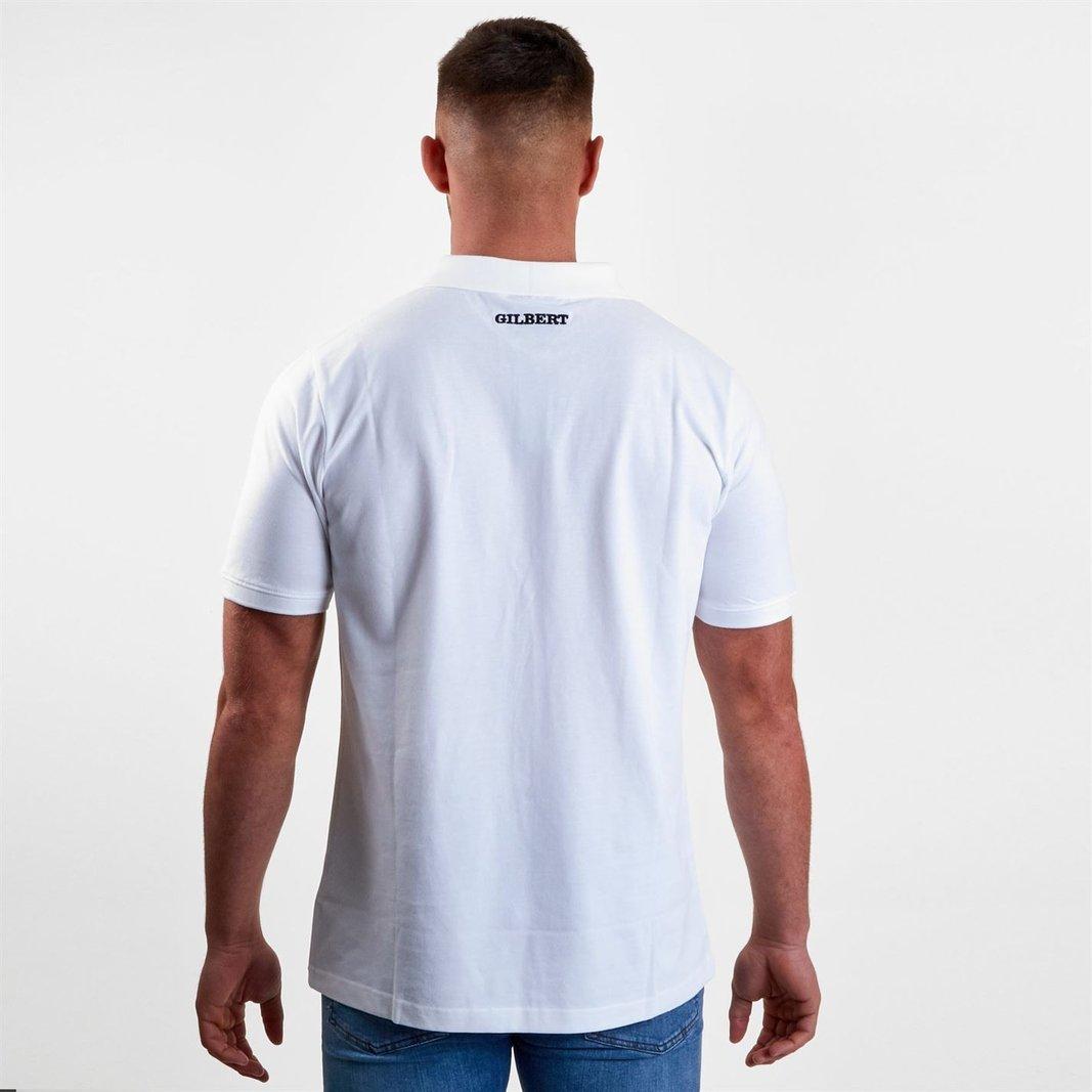 88d696b2d3b Gilbert Mens Barbarians 2019 Off Field Rugby Polo Shirt T-Shirt Top White