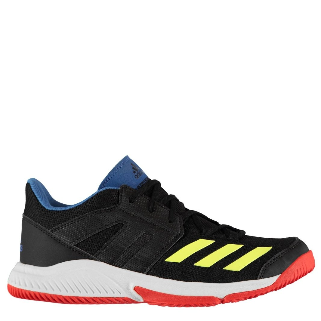 747b6a7f62100 adidas Mens Stabil Essence Indoor Trainers Sports Shoes Black