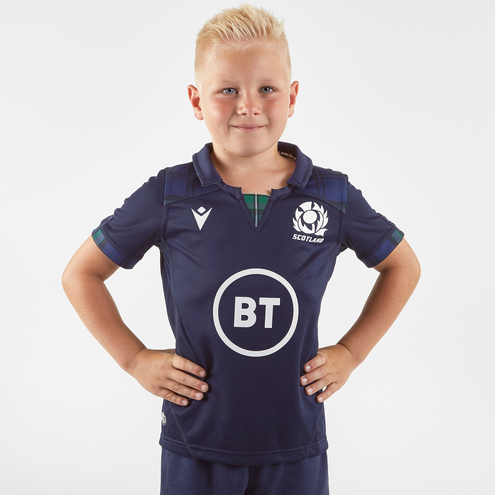 Image of Scotland 2019/20 Kids Home S/S Replica Rugby Shirt
