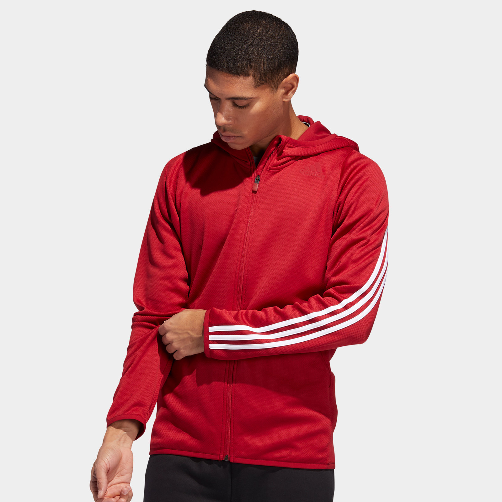 Image of 3 Stripes Full Zip Hooded Sweat