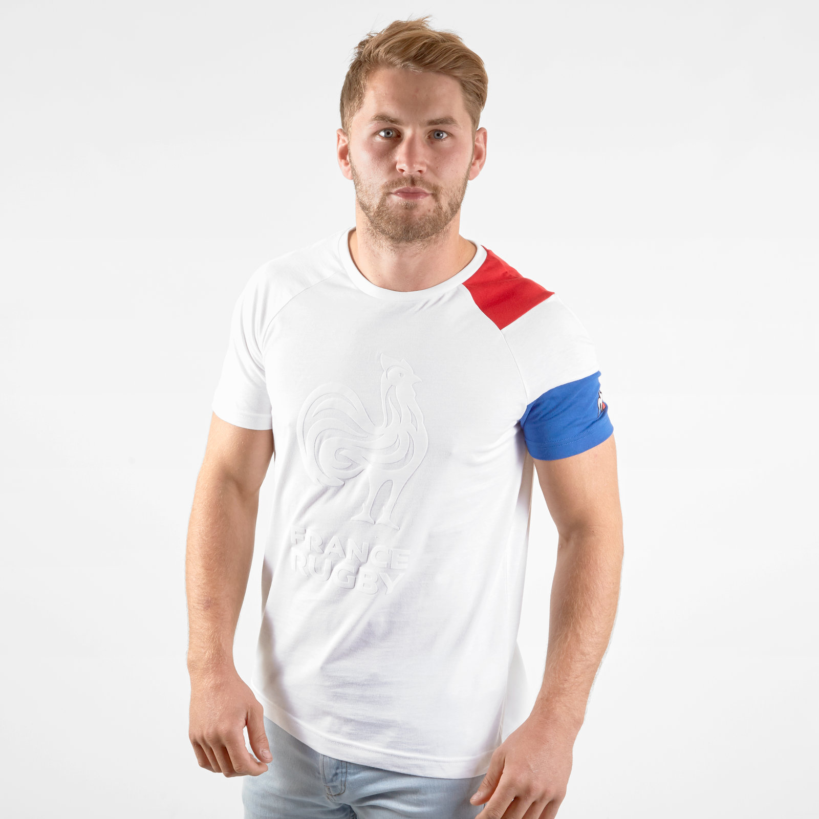 Le Coq Sportif Mens France 2019 20 Supporters Rugby T-Shirt Tee Top