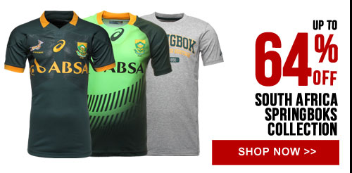 Up to 64% off Springboks 2015 collection - Shop now