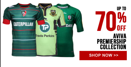 Up to 70% off Aviva Premiership collection - Shop now