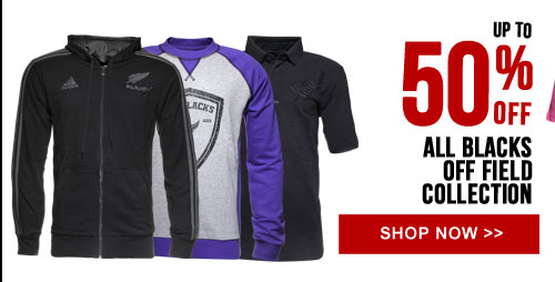 Up to 50% off All Blacks off field Collection