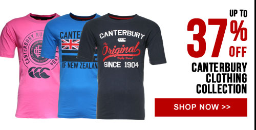 Up to 37% off Canterbury clothing collection