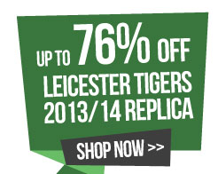 Up to 76% off leicester tigers replica
