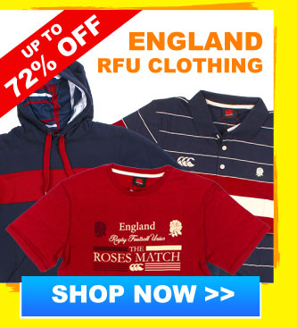 Up to 72% off England RFU Clothing