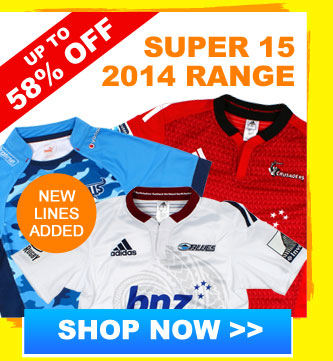 Up to 58% off Super 15 2014 range