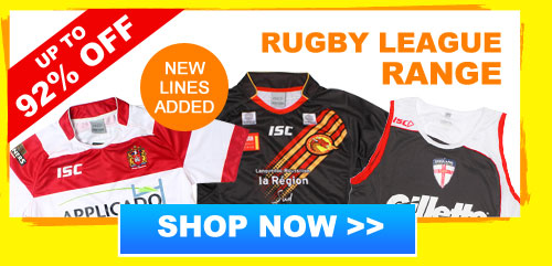 Up to 92% off Rugby League range